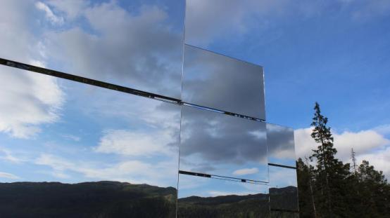 espejos en Rjukan
