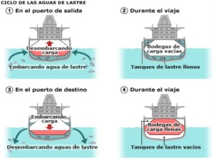 Sistema de agua de lastre en buques