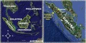 Localización geográfica del Parque Nacional de Gunung Leuser