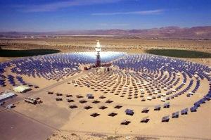 CSP Sanlúcar la Mayor. Cuenta con una potencia de 11 MW.