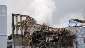 Aspecto de la central nuclear de Fukushima tiempo después del accidente