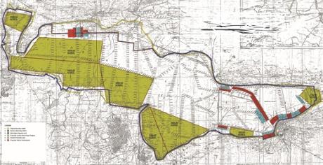 Mapa del proyecto y sus fronteras