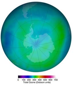 Cantidad de ozono (Marzo de 2014)