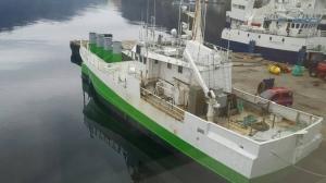 Barco utilizado en el proyecto (Fotografía de SINTEF / MARINTEK / Kvernevik Engineering AS / Havkraft AS)