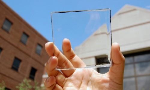 Concentrador solar luminiscente transparente