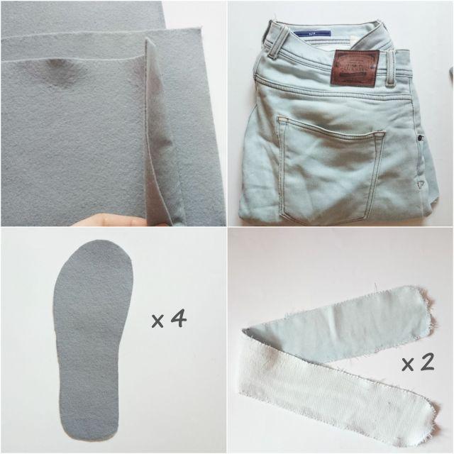Materiales zapatillas vaqueros
